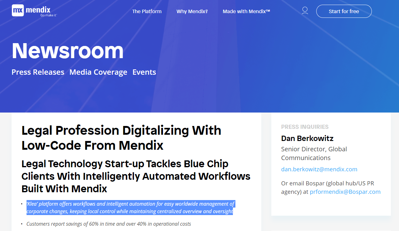 Legal Profession Digitalizing With Low-Code From Mendix
